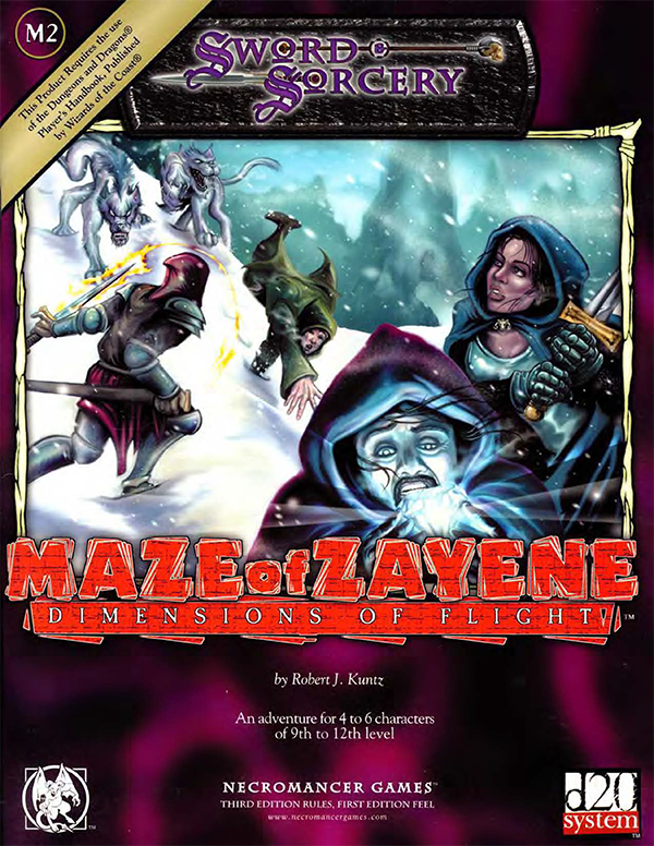 Cover of The Maze of Zayene M2 - Dimensions of Flight